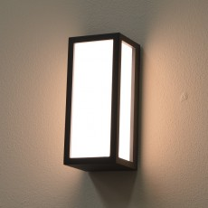 Elipta Box Outdoor Wall Light -E27 Graphite