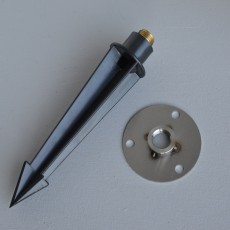 Round Base Plate St.St. With Polycarbonate Spike For Senatrix Bollard