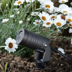 Elipta Spike3 garden spotlight c/w spike - 12v - 3w - 350lm - 40° - 2700K - IP67 -  Anodised Anthracite