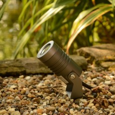 Elipta Spike5 Garden Spotlight - 240v - 5w - 400lm - 38° - 2700K - IP67 - Anodised Anthracite