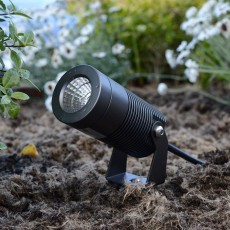 Elipta Spike8 garden spotlight c/w spike - 12v - 8w - 640lm - 36° - 2700K - IP67 - Anodised Anthracite