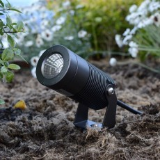 Elipta Spike8 Garden Spotlight - 240v - 8w - 640lm - 36° - 2700K - IP67 - Anodised Anthracite