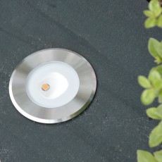 Elipta Polus Asymmetric LED Recessed Spotlight - 24v-DC-9w 316 Stainless Steel