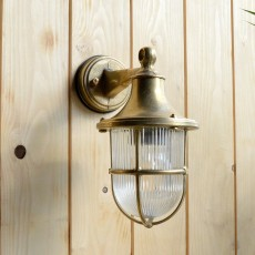 Elipta Greenwich Outdoor Wall Lantern Light - Solid Brass