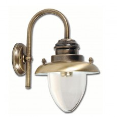Elipta Pembroke Lantern Light - Solid Brass, Antique Lacquered Finish