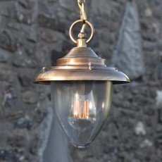 Drake Pendant Light - Solid Brass, Antique Lacquered Finish