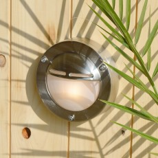 Elipta Chatham Eyelid Outdoor Wall Light  - Solid Brass, Nickel Plated Finish