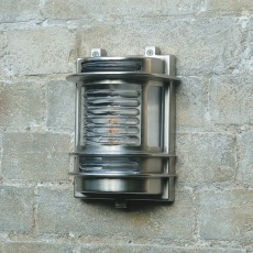 Elipta Dartmouth Outdoor Wall Light - Solid Brass, Nickel Plated Finish