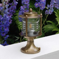 Elipta Portland Post Light - Solid Brass, Antique Lacquered Finish - 29cm