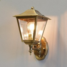 Coachlight Lantern Outdoor Light - Solid Brass, Antique Lacquered Finish