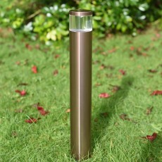 Orion Spike Mount Bollard Light - 12v - Light Mahogany Anodised