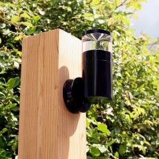 Elipta Aries Outdoor Wall Light - 12v - Black Anodised