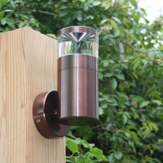 Aries Outdoor Wall Light - 12v - Light Mahogany Anodised