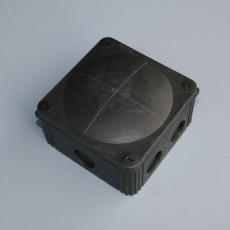 Elipta IP66 Junction Box c/w Terminals / Entries - 85 x 85 x 50mm  -  Black