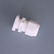 IP68 Cable Gland c/w Lock Nut - 20mm - White