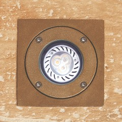 Neptune Recessed Light with Square Top - Brass