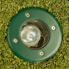 Elipta Modula Recessed Uplight - Green - Round - 12v MR16