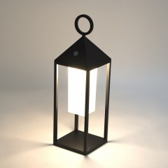 Elipta Rechargeable Outdoor Table Lantern - Black