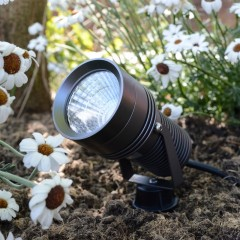 Spike12 Garden Spotlight - 240v - 12w - 1250lm - 40° - 2700K - IP67 - Anodised Anthracite
