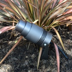 Elipta Unibeam Telescopic Garden Spike Light c/w spike - 240v - 12w -550lm-10°-60°-2700K-IP67- Anodised Anthracite