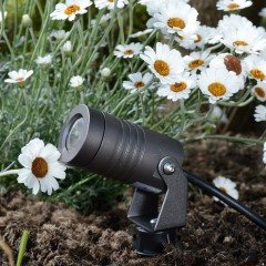 Spike3 garden spotlight - 12v - 3w - 350lm - 40° - 2700K - IP67 -  Anodised Anthracite