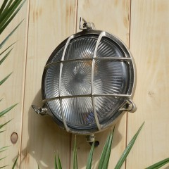 Poole Round Bulkhead - Solid Brass, Nickel Plated Finish