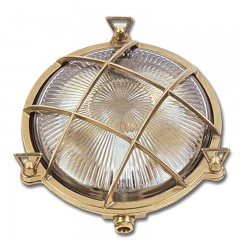Poole Round Bulkhead - Solid Brass