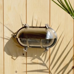Portsmouth Oval Eyelid Bulkhead - Solid Brass, Nickel Plated Finish