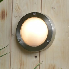 Chatham Outdoor Wall Light - Solid Brass, Nickel Plated Finish