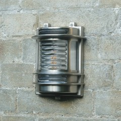 Dartmouth Outdoor Wall Light - Solid Brass, Nickel Plated Finish