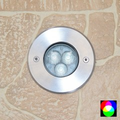 Elipta Walkover Quartz Recessed RGB 24v DC Uplight 270lm