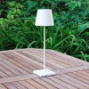 Elipta Rechargeable Battery Outdoor LED Table Lamp - White
