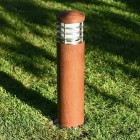 Elipta Nimbus 45 Bollard Light with Louvres - Teak