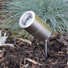 Elipta Compact Spike Spotlight - Stainless Steel - 240v GU10