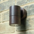 Compact Outdoor Wall Downlight - Copper - 240v GU10