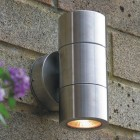 Elipta Compact Up & Down Outdoor Wall Light - Stainless Steel 240v GU10