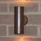 Compact Up & Down Outdoor Wall Light - Natural Copper 240v GU10