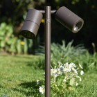 Pole Spot Duo - Rustic Brown - 12v Outdoor Spotlight