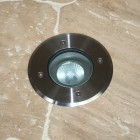 Modula Recessed Uplight - Stainless Steel - Round - 240v GU10