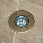 Modula Recessed Uplight - Brass - Round - 240v GU10