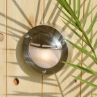 Chatham Eyelid Outdoor Wall Light  - Solid Brass, Nickel Plated Finish