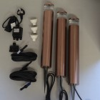 Elipta Orion Bollard Kit  - 12v - Light Mahogany Anodised