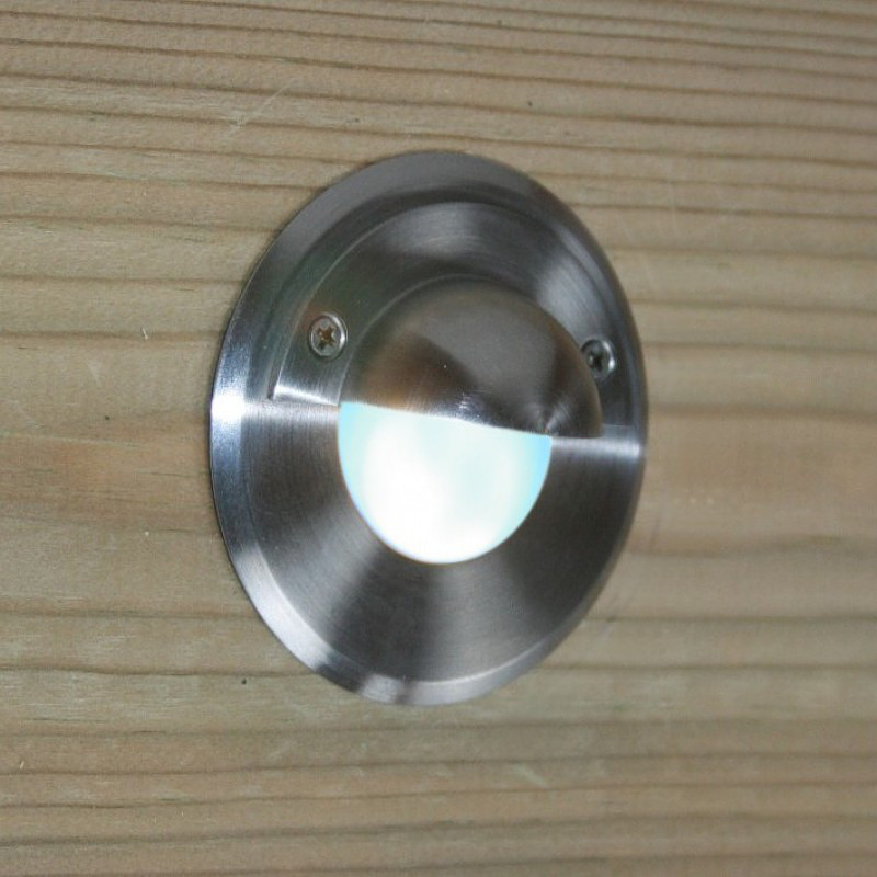 Stainless steel surface mount l.e.d. garden step light