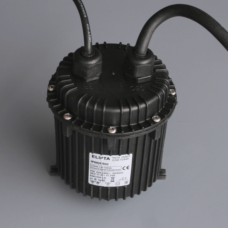 Ground burial 12v garden lighting transformer