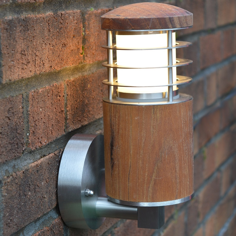 Nimbus 30 Wall Light With Louvres - Teak