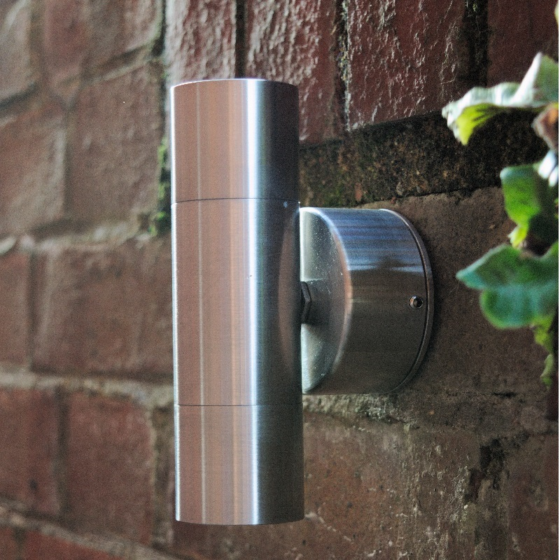 Microspot Up & Down Outdoor Wall Light - Stainless Steel - 12v MR11