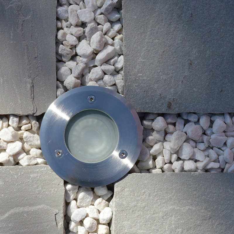 Sol LED Recessed Uplight Stainless Steel 240v