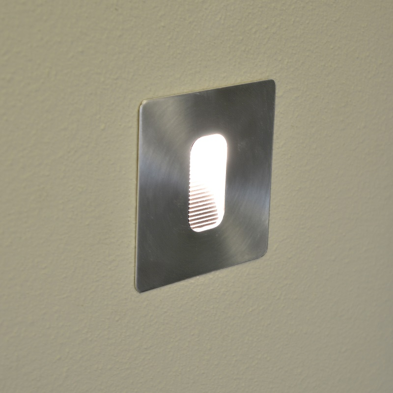 Phanzi  Wall light - Warm White - Square - Stainless Steel