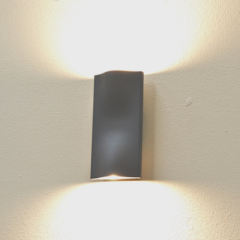 Cyclone Up/down Wall Light   Graphite   Warm White LED