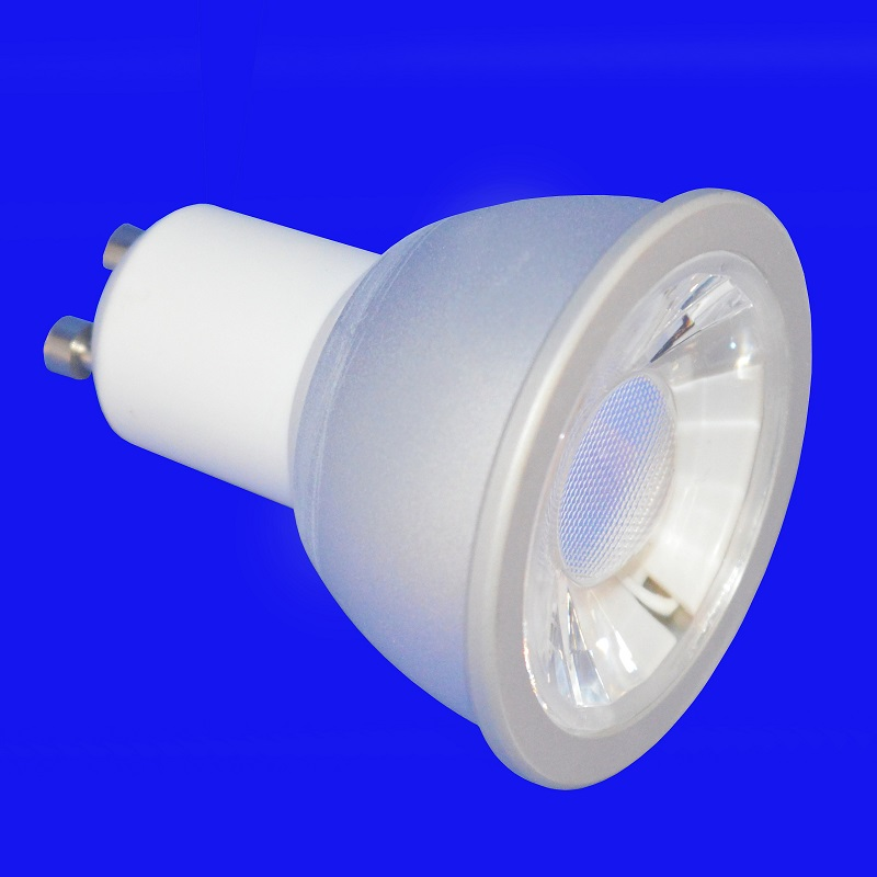 6w 550LM GU10 COB LED Lamp 2700k 30° Dimmable